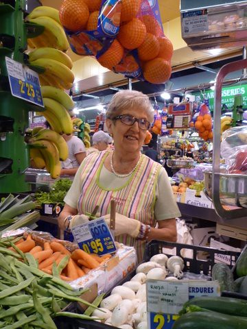 Maria has the best variey of fruits and vegetable