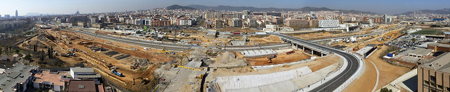 Panorámica de las obras en La Sagrera - Sant Martí - 13-03-12