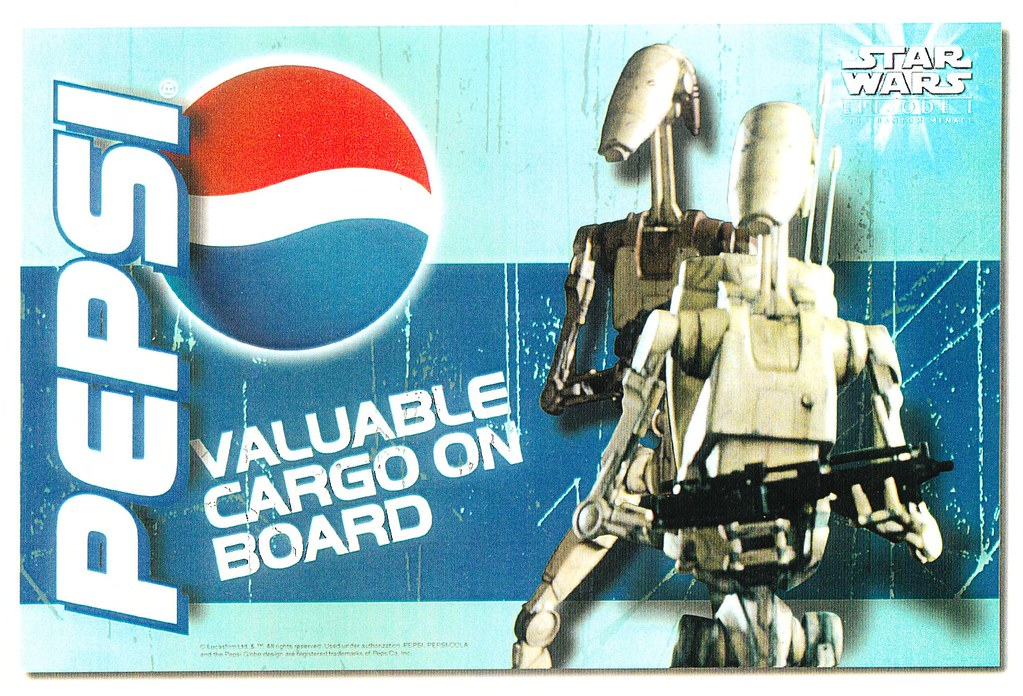 Star Wars Pepsi display