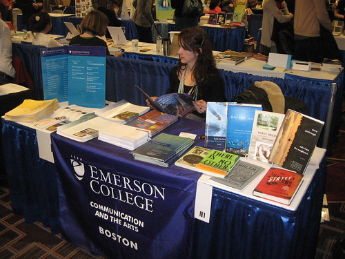 AWP12 Emerson Desk table at the bookfair