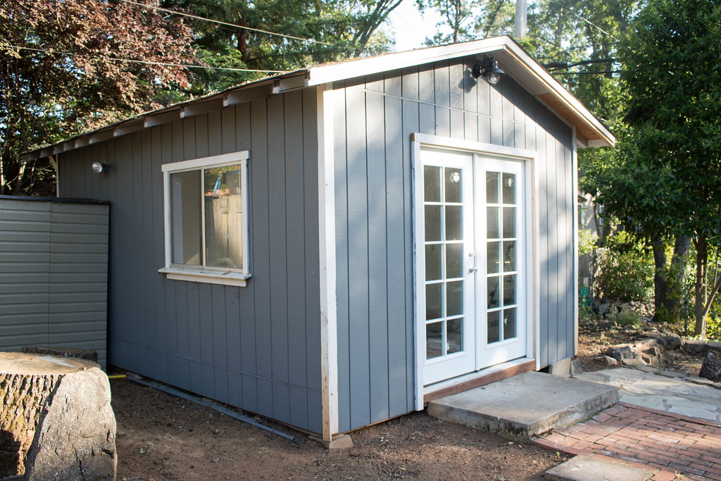 Exterior of the shed