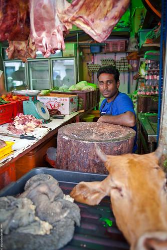 An impromptu butcher