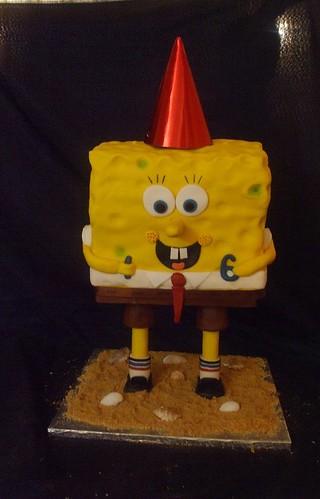 Standing Spongebob Cake by Sweet-Sassy
