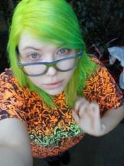 lime green hair