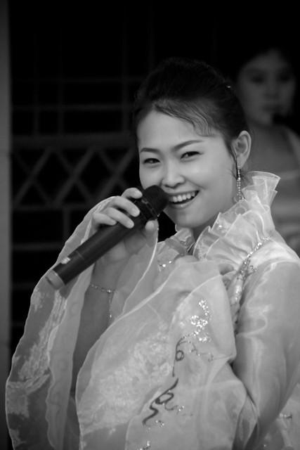 Singing North Korean Waitress Dandong, China