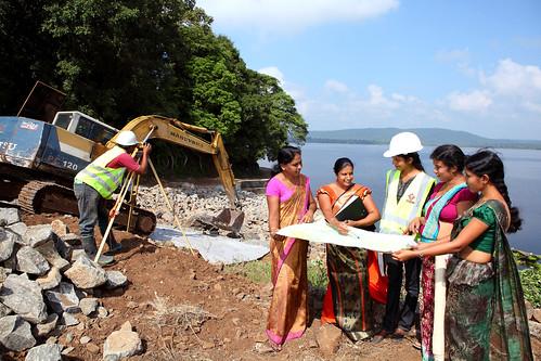 A dam under construction