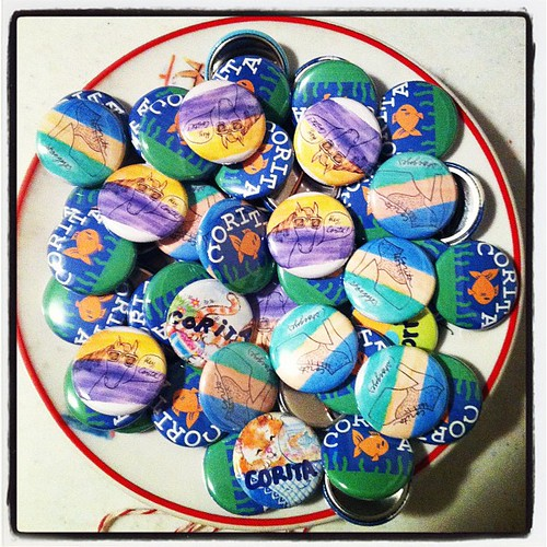 Big bowl of @CoritaNYC buttons!