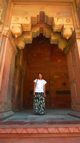 Ornate Doorway Agra Fort