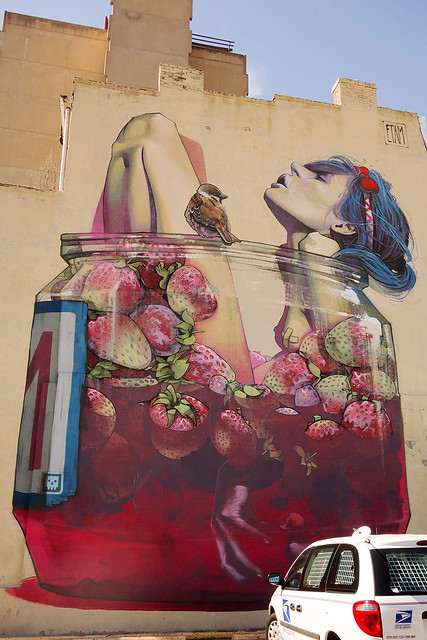 """Moonshine"" by Bezt from the Polish duo Etam Cru - Mural."