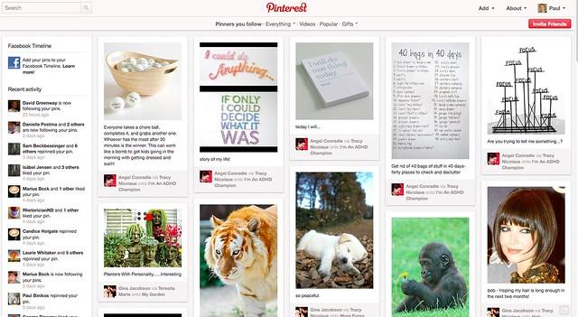 Pinterest follow screen