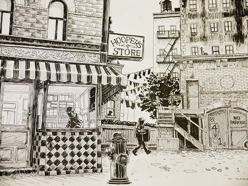 03. Ulica Sezamkowa - szkic