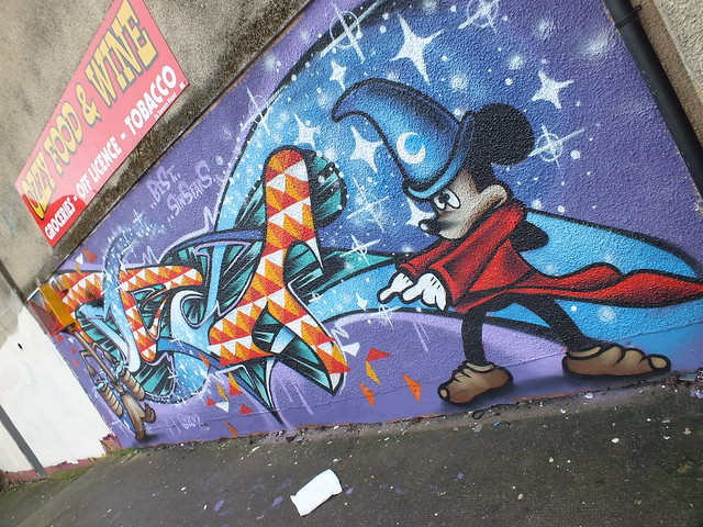 Mickey Mouse street art in Canton
