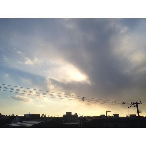 いま空。明日から会社かぁ~^^; #iphonography #instagram #iphone4s