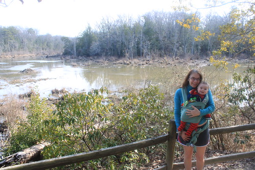 Mason Neck State Park - Bay View Trail - Sagan and Mommy Smile at Observation Blind (By Ryan Somma)