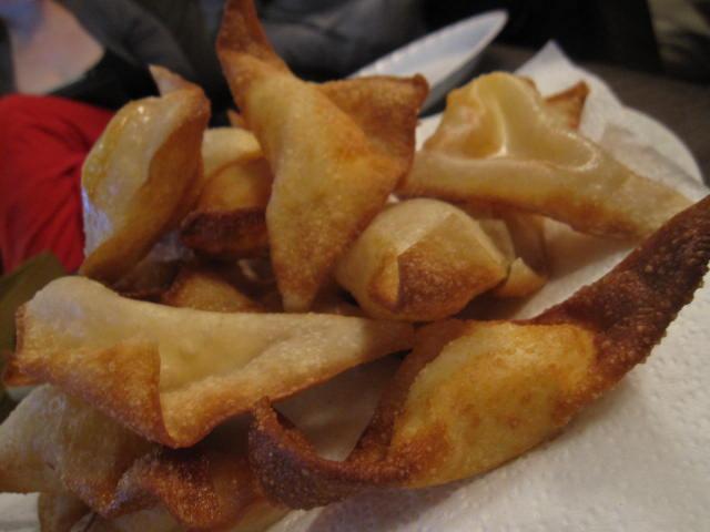 cream cheese sriracha wontons