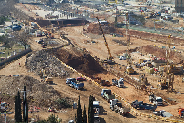 Trabajos en la zona de la futura estación de La Sagrera - 13-03-2012