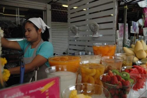 野菜ジュースのショップ