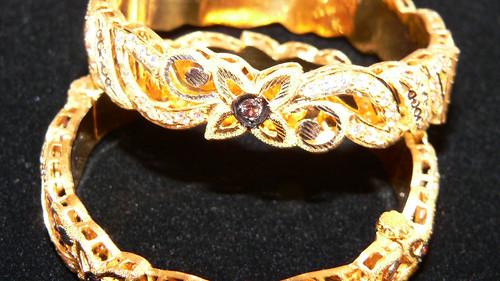 21kt gold bracelets  by njdiamonds