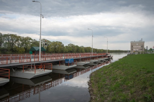 Митяевский наплывной мост в Коломне