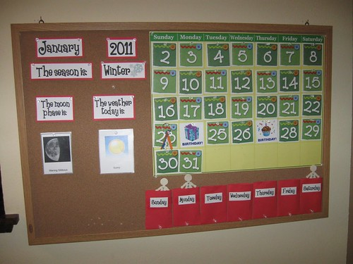 Calendar Activities (Photo from Discovery Days and Montessori Moments)