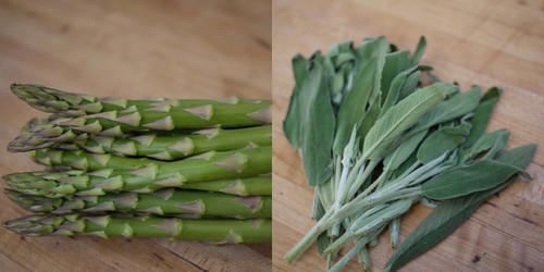 Asparagus and sage