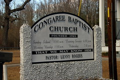 Congaree Baptist Church Sign