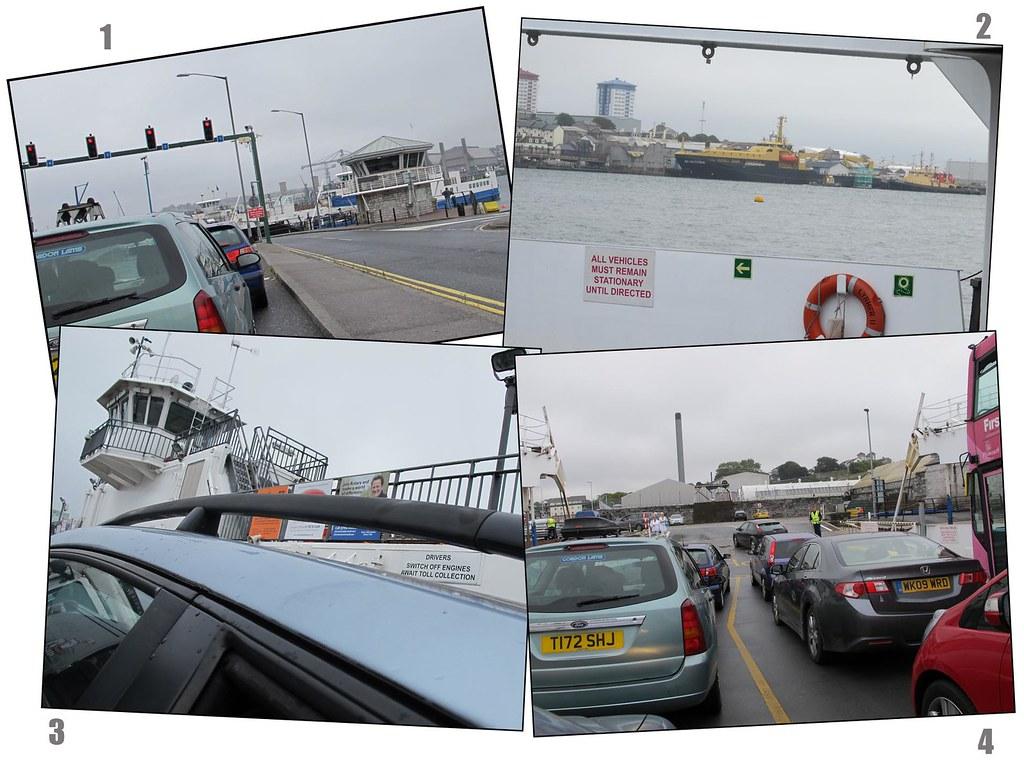 Quadtych - A ferry journey across the River Tamar (SW UK).