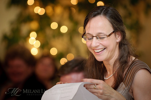 The Maid of Honor gives a saucy rendition of the poem she wrote for us