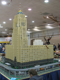 LEGO Fisher Building model at Ann Arbor Train Show