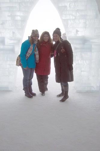 LeAna. Robin & Molly at Snow Church