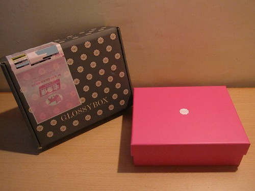 Delivery box and the actual Glossybox