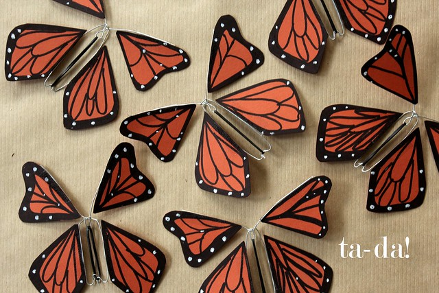 How To Make Wind Up Paper Butterflies!