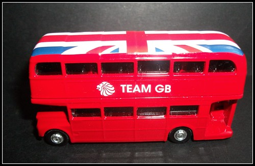 Team GB 2012 Corgi Toys Routemaster bus.