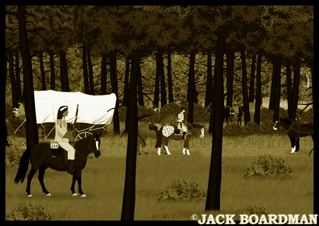 Blackmon's posse met homesteaders ©2012 Jack Boardman