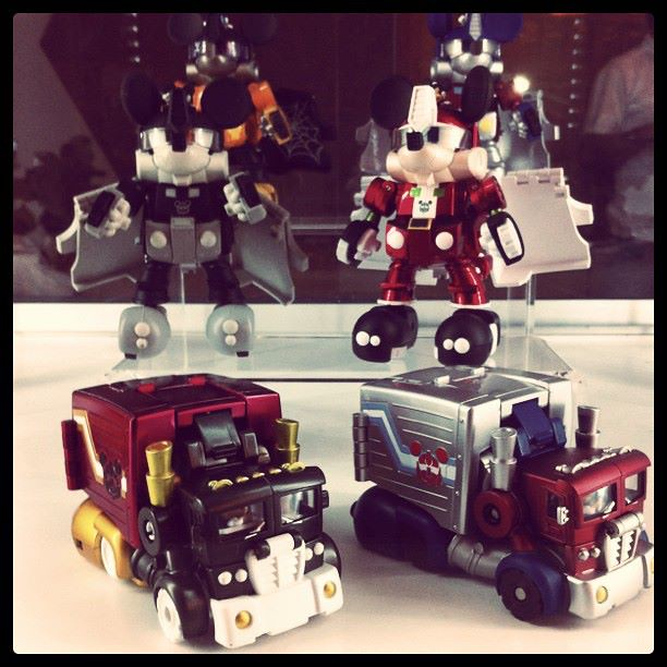 10 Mar - Mickey Mouse Transformers toys spotted at Cybertron Con 2012 at Resorts World Sentosa