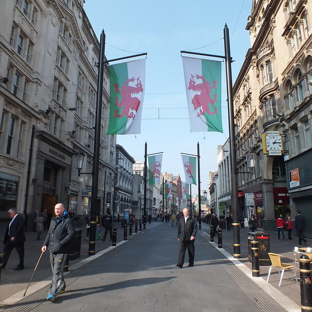 St Mary Street post St David's Day parade in Cardiff, 2012
