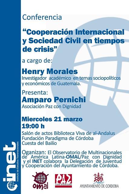 Conferencia Cooperación Internacional y Sociedad Civil por Henry Morales.