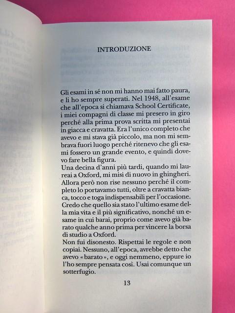 Alan Bennett, Gli studenti di storia, Adelphi 2012. [ind. grafiche non indicate]. P. 13 (part.), 1