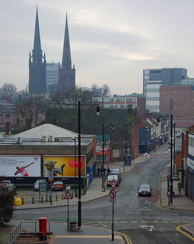 20120129-33_Coventry_Two of Three Spires from Bishop Street by gary.hadden