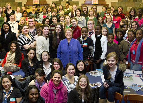 Executive Director of UN Women Meets Youth Delegates to the Commission on the Status of Women