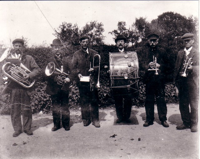 Woodchurch Band: from a copy of the photo provided to me by Charlie Bridger. Charlie's father (Charles) and grandfather (Tom) are both in this photo.