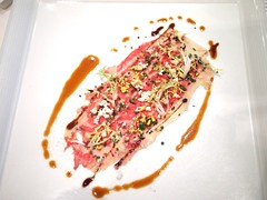 Set lunch menu: Carpaccio beef, parmesan, balsamic. Gunther's, 36 Purvis Street