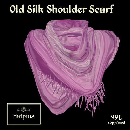Hatpins - Old Silk Shoulder Scarf Advert - Pink