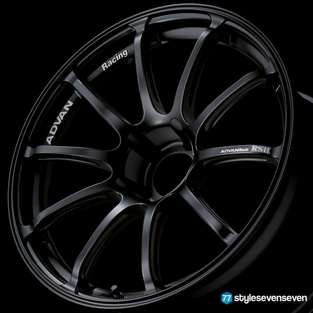Advan Racing RS II Semi Gloss Black