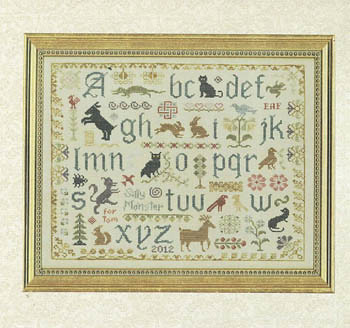 Elizabeth's Designs Antique Animal Sampler