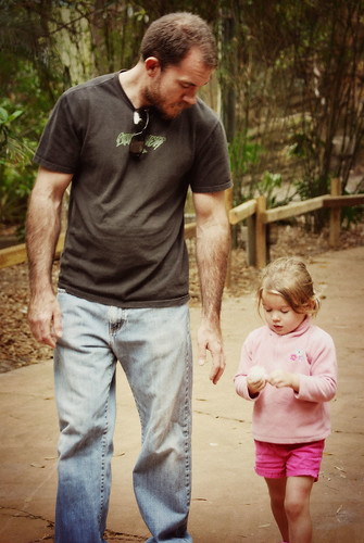 walking with dad
