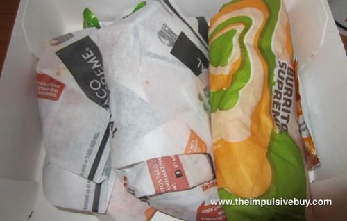Taco Bell Doritos Locos Taco Inside Box