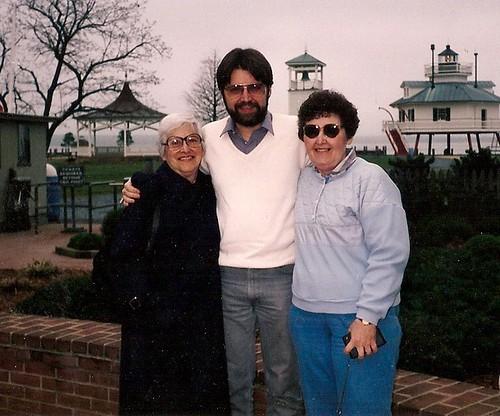 Grandma and Mom with Skip