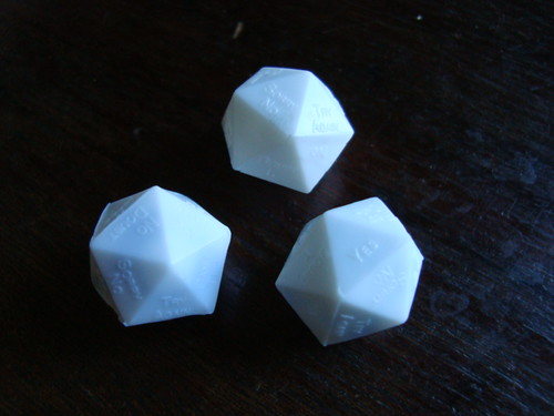 The finished dice