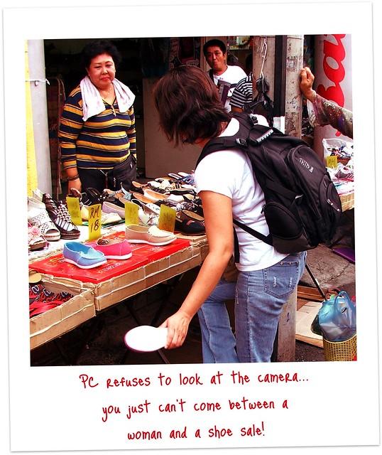 Ms. Lim at Air Hitam Saturday markets